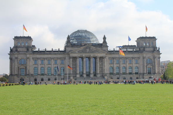 The famous Reichstag of Berlin, Germany