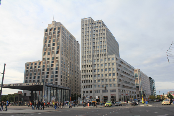 The modern Potsdamer Platz of Berlin
