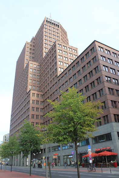 The Potsdamer Platz and the Kollhoff tower in Berlin