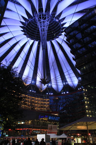 Berlin, Sony Center, night