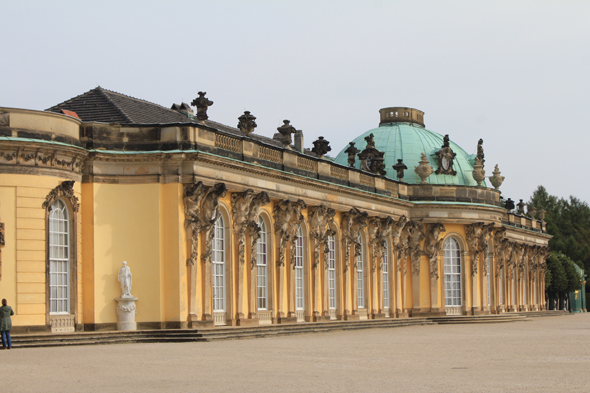 The Sanssouci castle in Potsdam