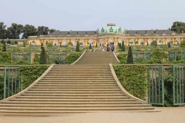 The magnificent Sanssouci Palace in Potsdam
