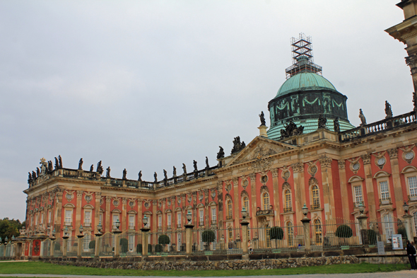 The huge New Palace of the Sanssouci in Potsdam