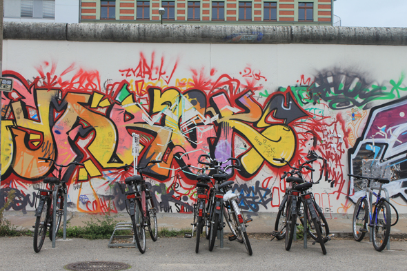 Bikes on the Berlin Wall