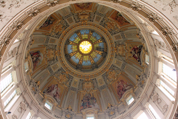 The dome of the cathedral Berliner Dom in Berlin