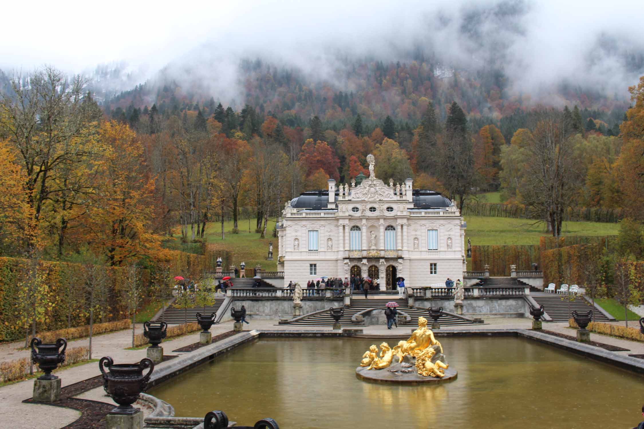 The beautiful Linderhof Palace