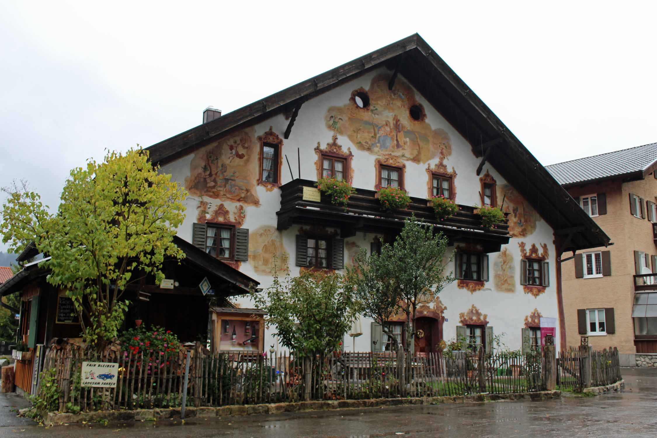 Beautiful painted facade in Oberammergau