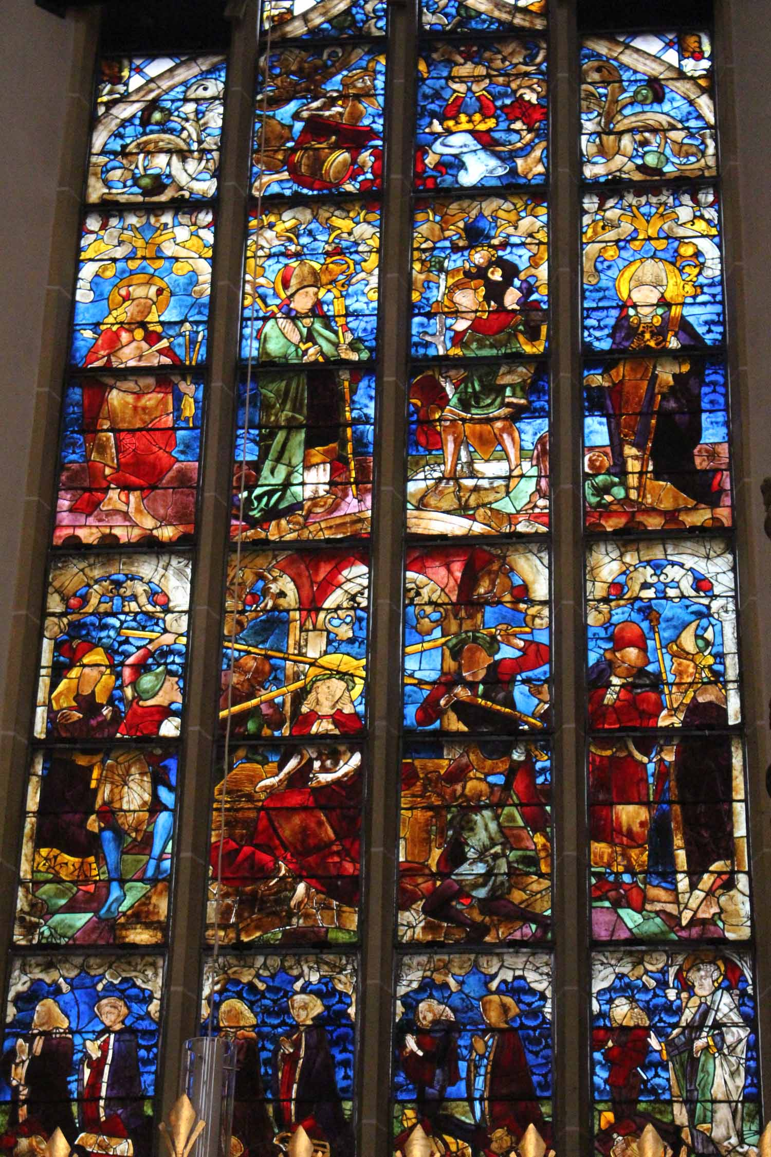 The stained glasses of the church Our-lady of Munich