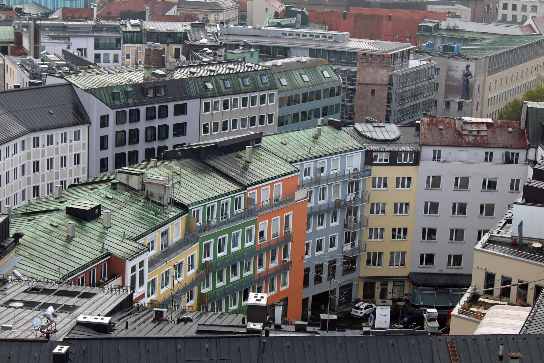 Colored buildings in Munich