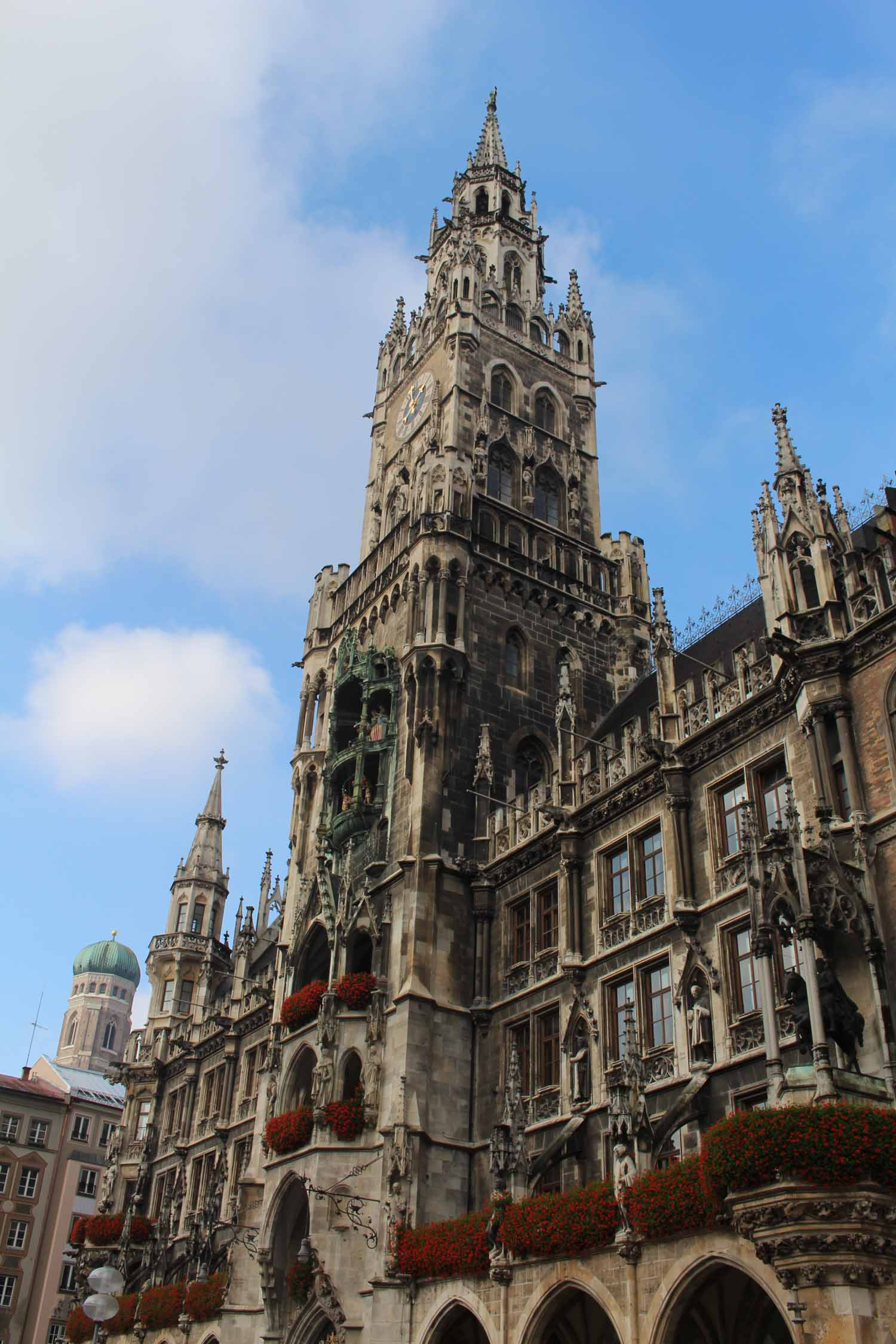 The city hall of Munich