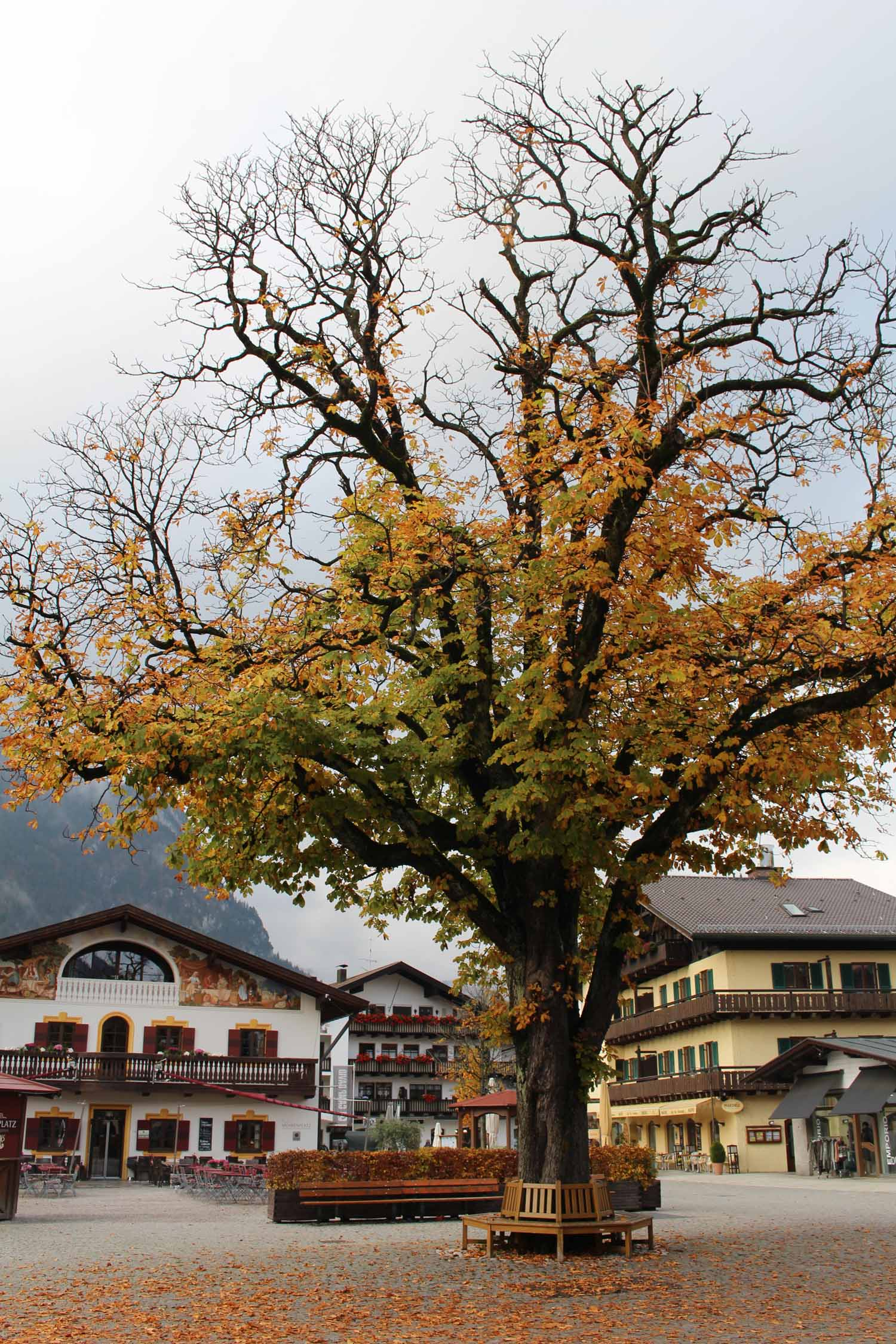 The beautiful city of Garmisch-Partenkirchen in Bavaria