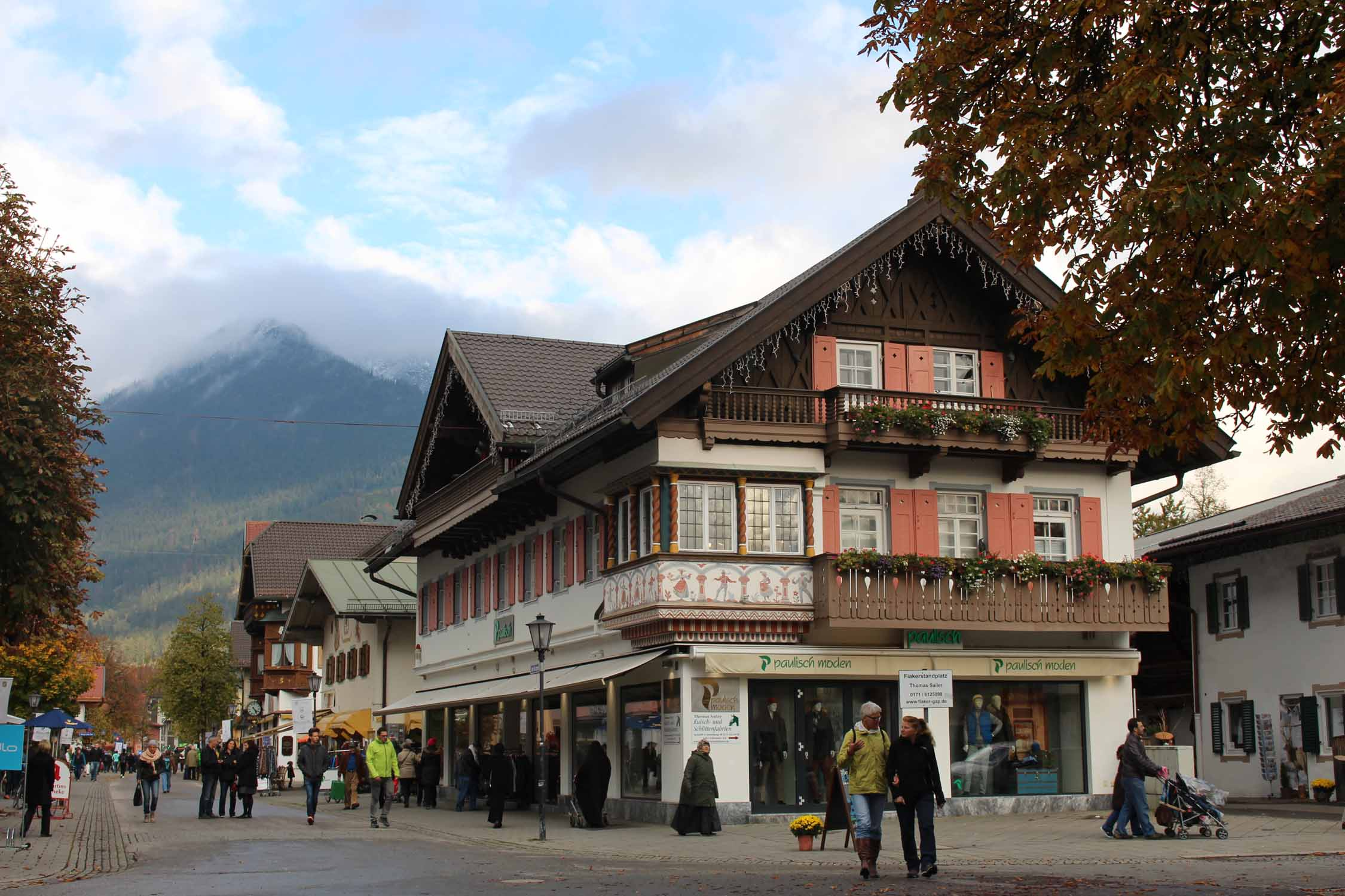 The city center of Garmisch-Partenkirchen