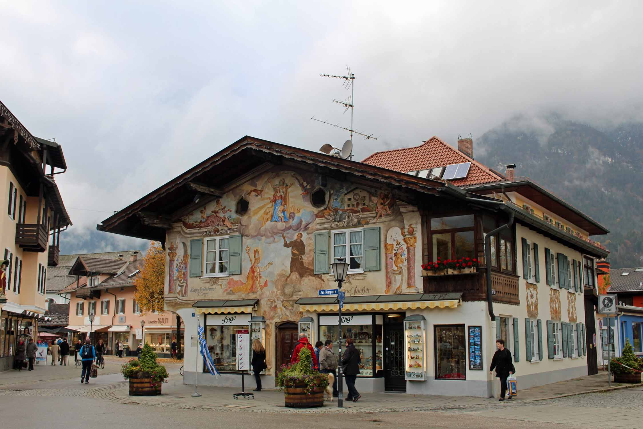 The city of Garmisch, Bavaria