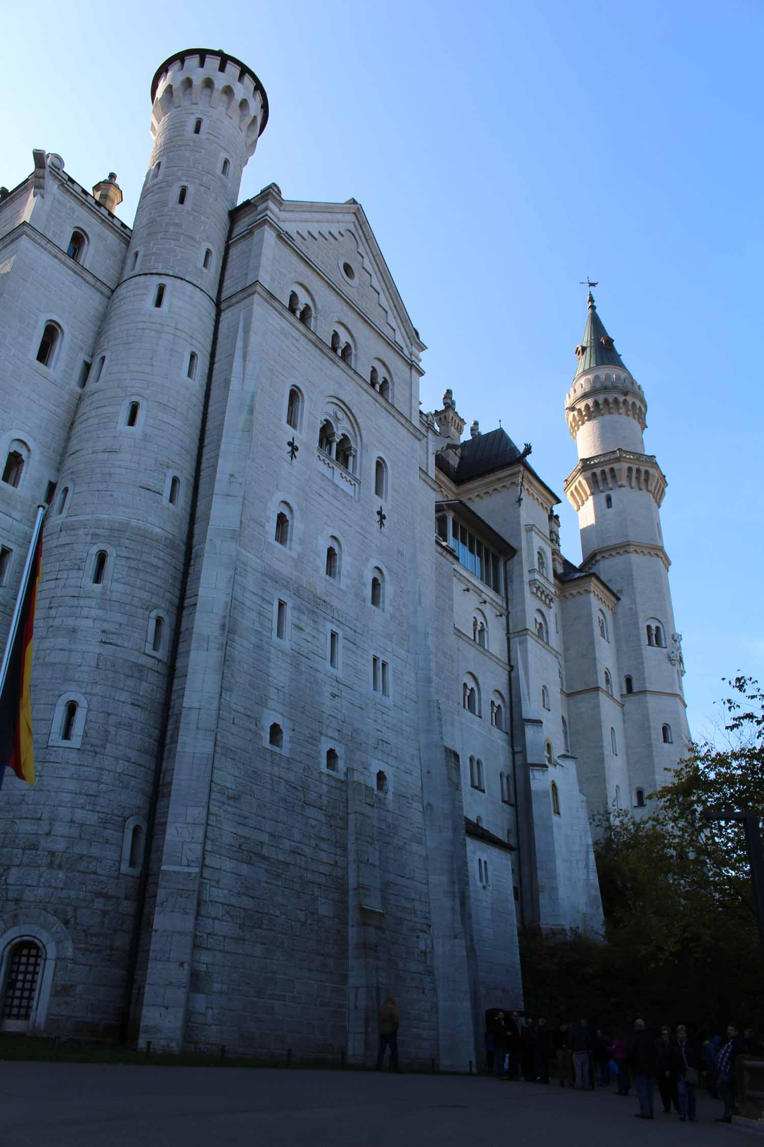 The fortress of Neuschwanstein,