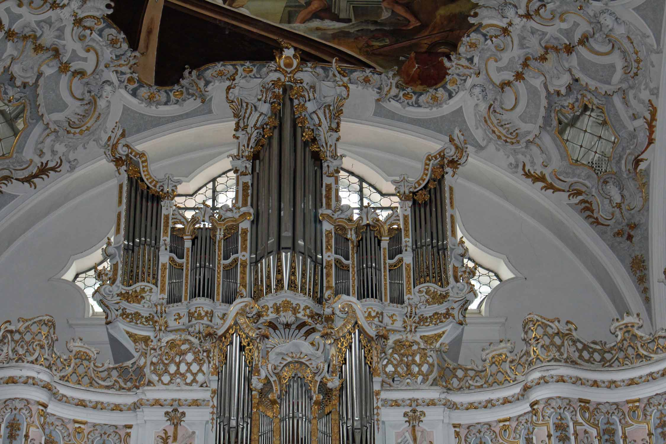 The organ of the monastery of Steingaden