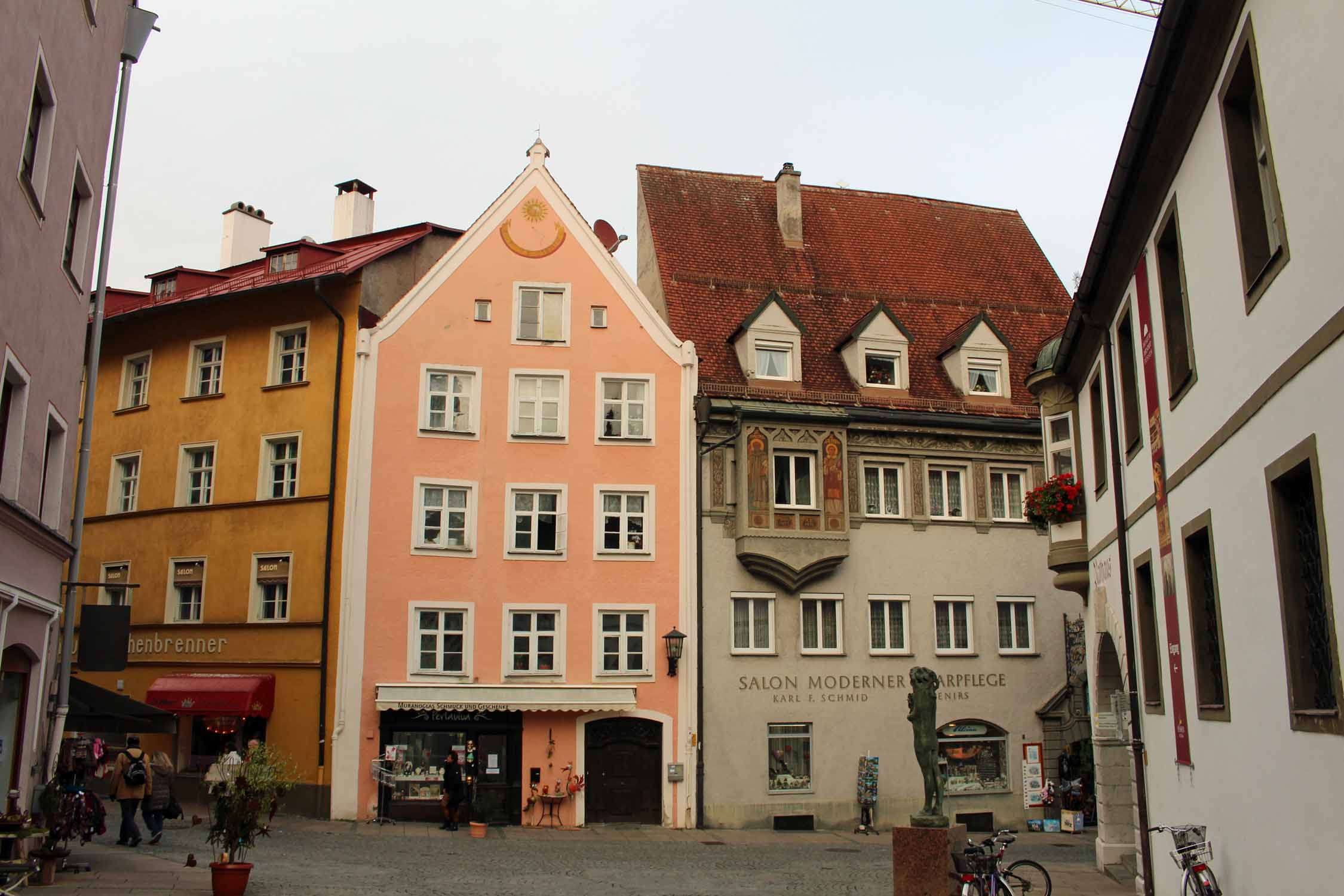 Colored houses of Füssen in Bavaria