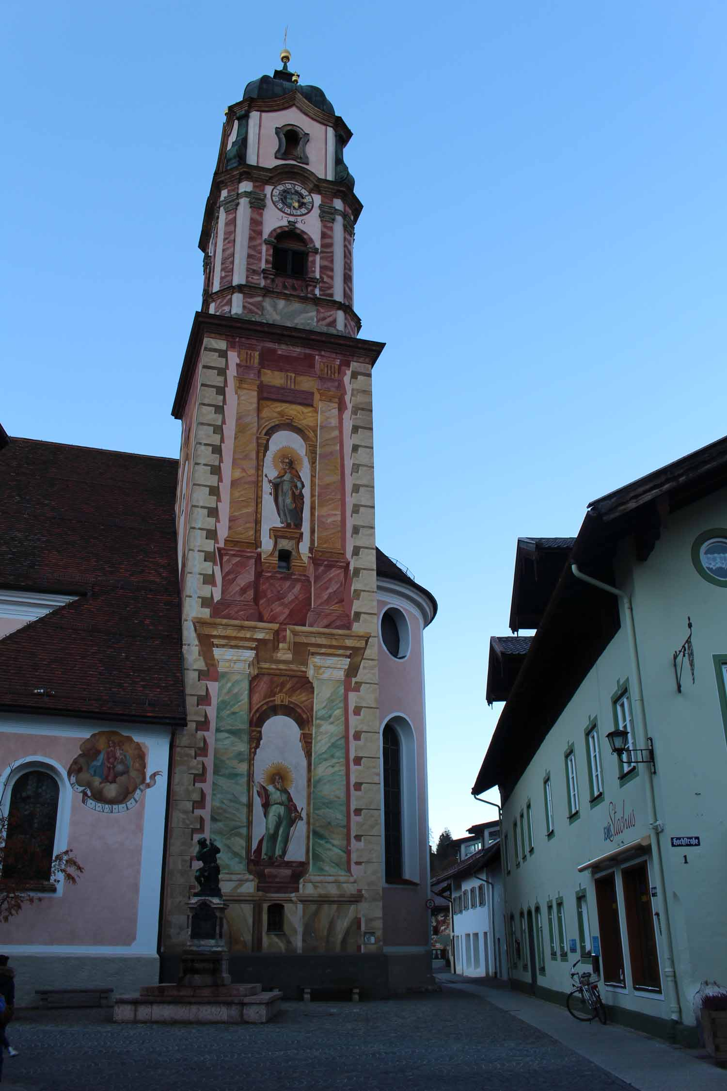 The church St-Pierre and St-Paul of Mittenwald