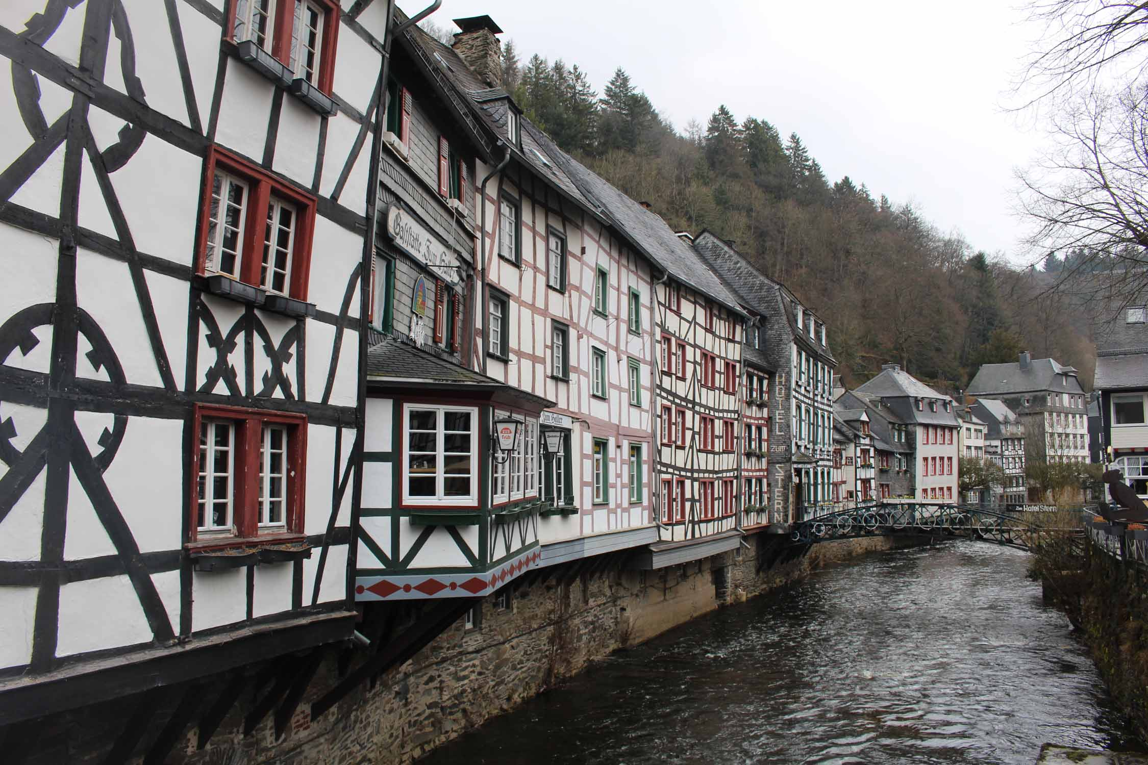 Monschau, houses along Rur river