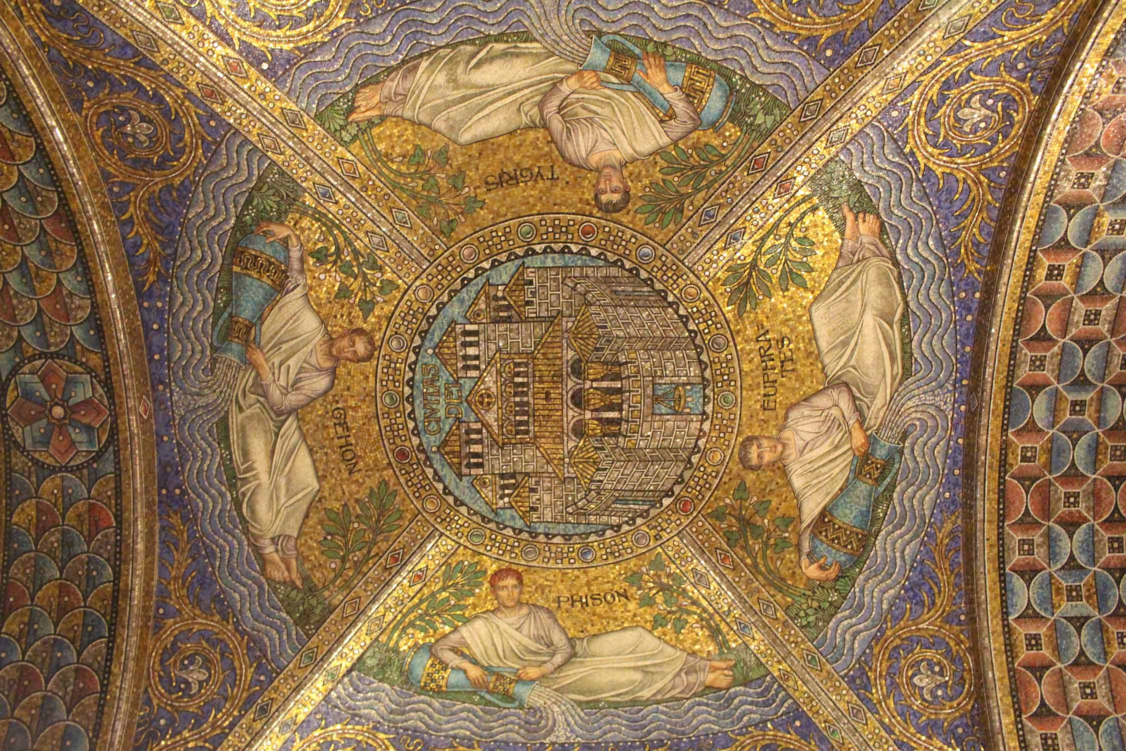 Aachen, cathedral, ceiling of the palatine chapel