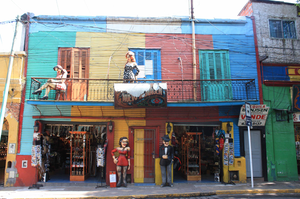Buenos Aires, the typical La Boca district