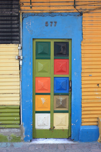 Buenos Aires, a typical door