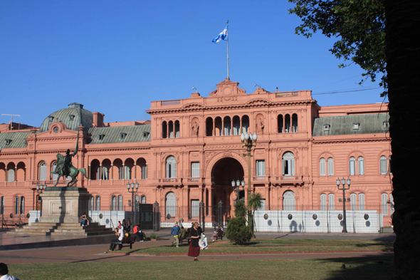 The Casa Rosada or government's seat in Buenos Aires
