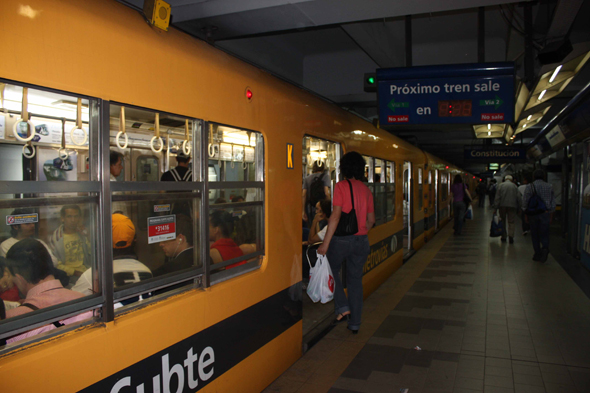 Buenos Aires, the coloured subway