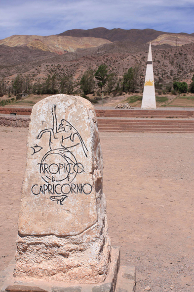 The tropic of Capricorn, Argentina