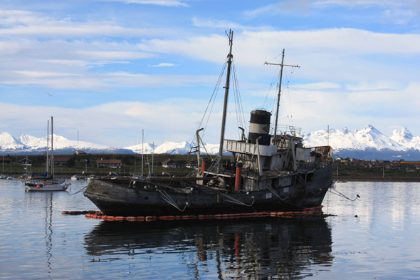 The wreck of San Christopher in Ushuaia