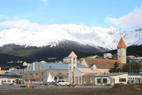 The typical city of Ushuaia, Argentina