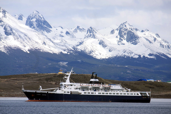 Ushuaia, a boat in Beagle Channel