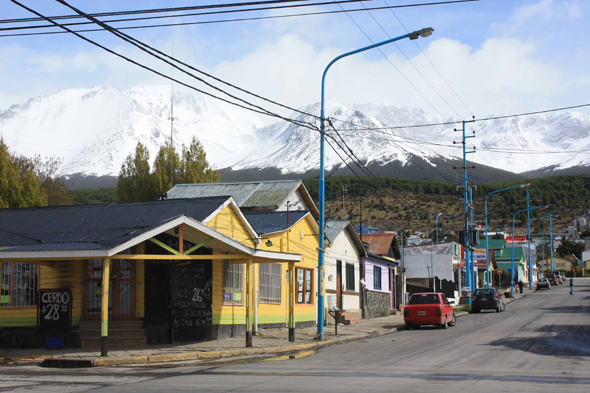 Ushuaia, a typical street, Argentina