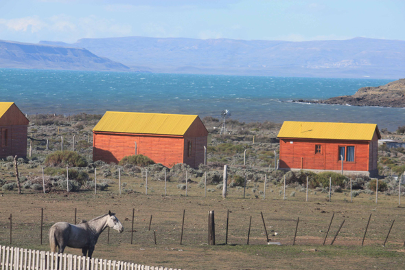 El Calafate and the lake in Argentina