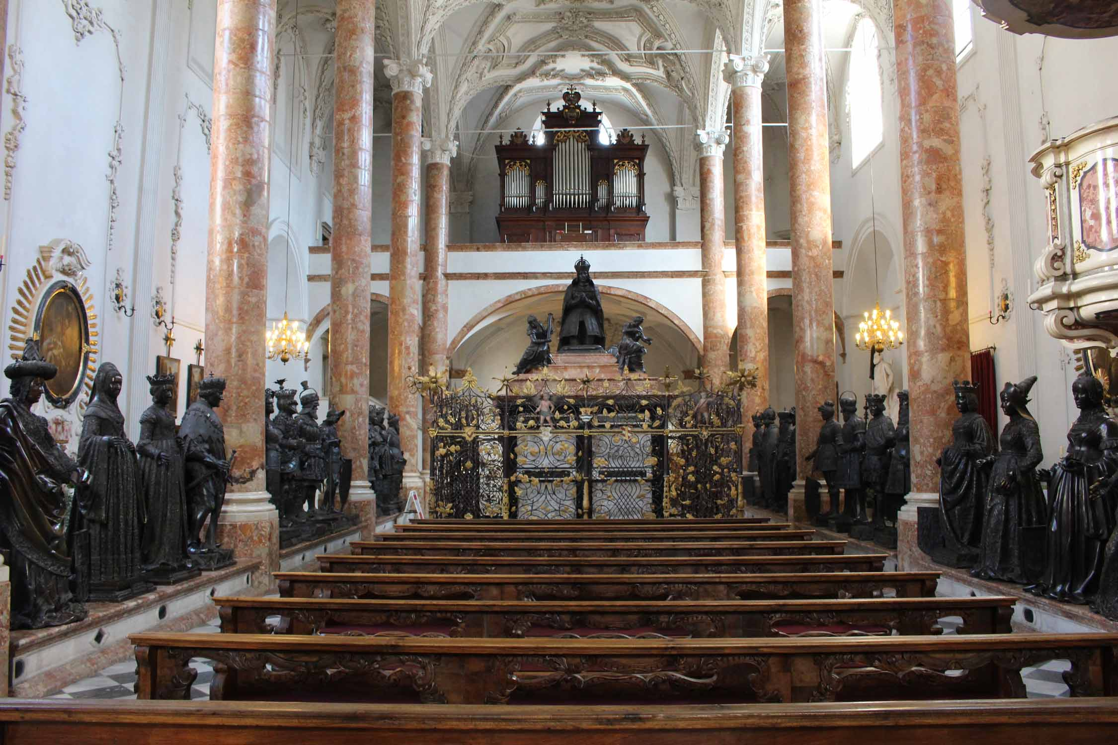 Innsbruck, church Hofkirche, nave