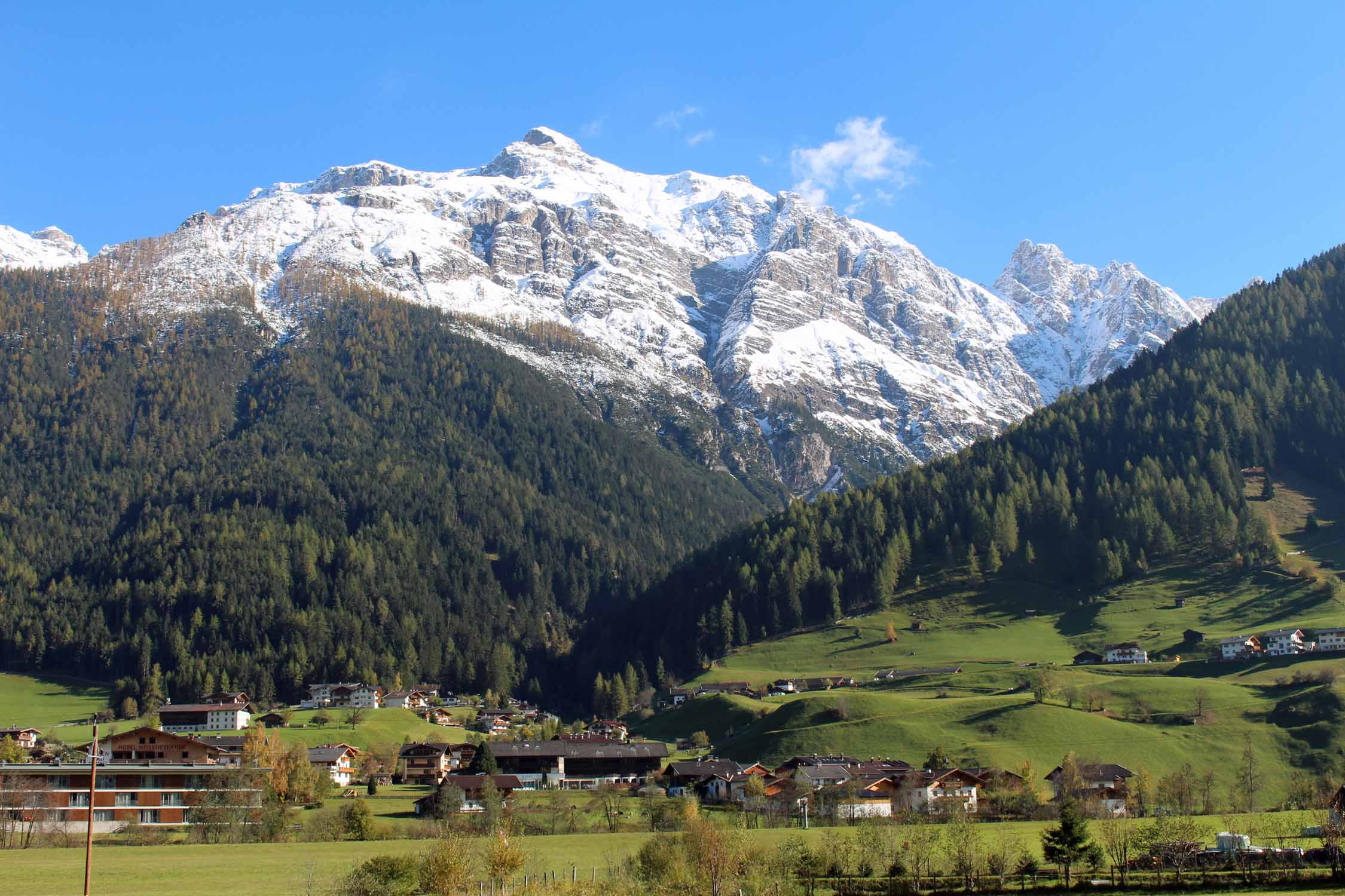 Landscape of the valley of Stubaital