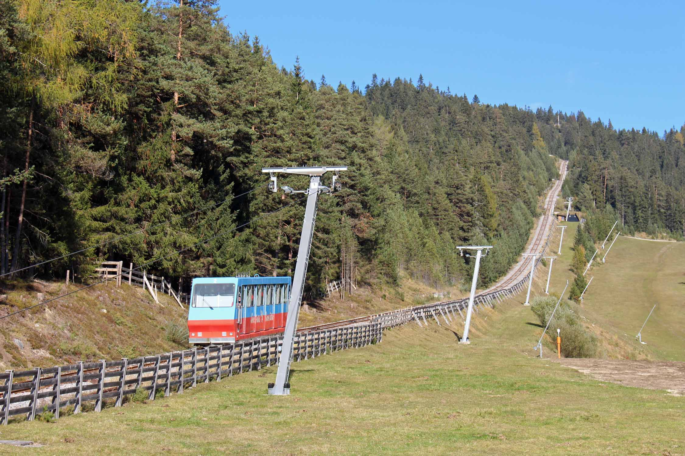 The funicular of Seefeld, Tirol