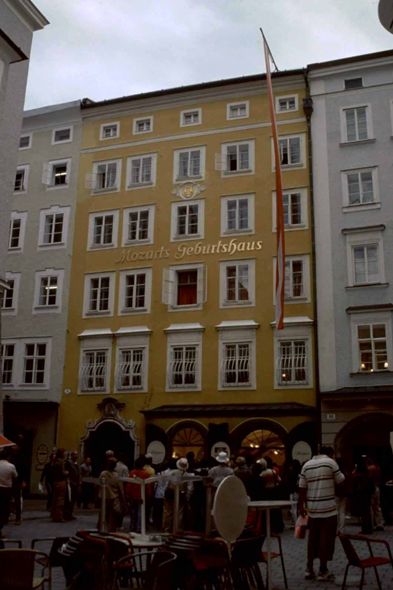 Salzburg,  the native house of Mozart