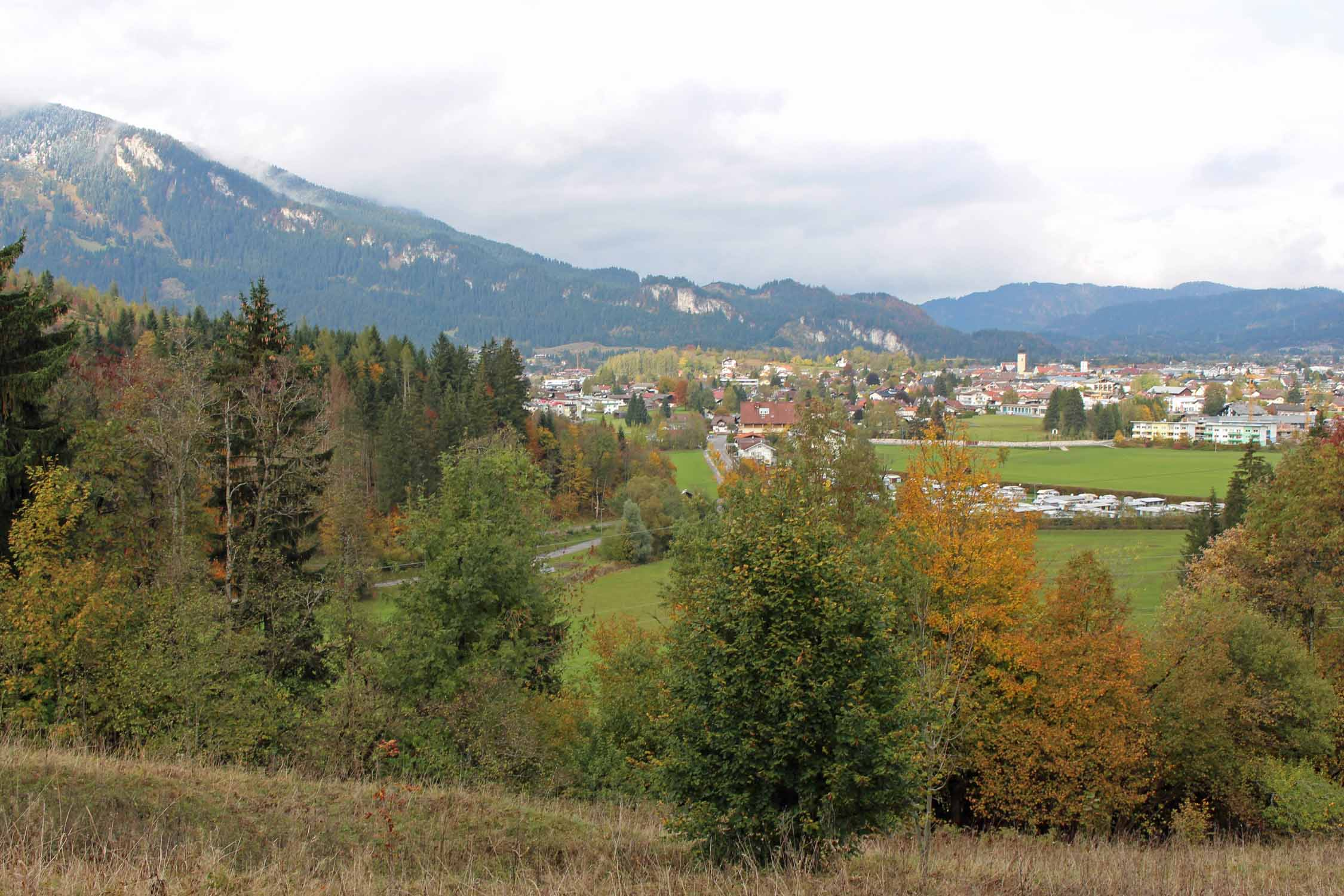 View on the city of Reutte, Tirol