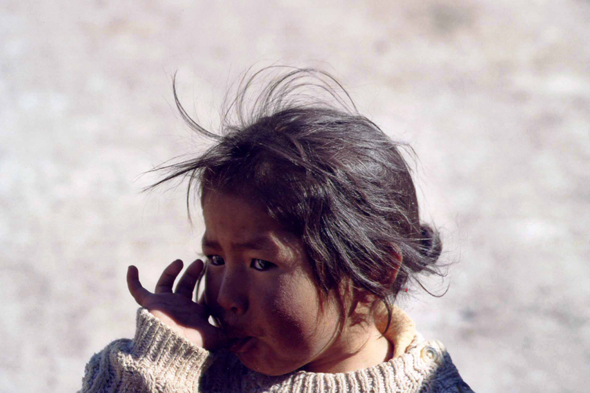 Colchani, young Bolivian