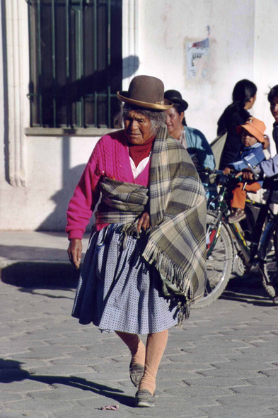 An Indian in the town of Uyuni