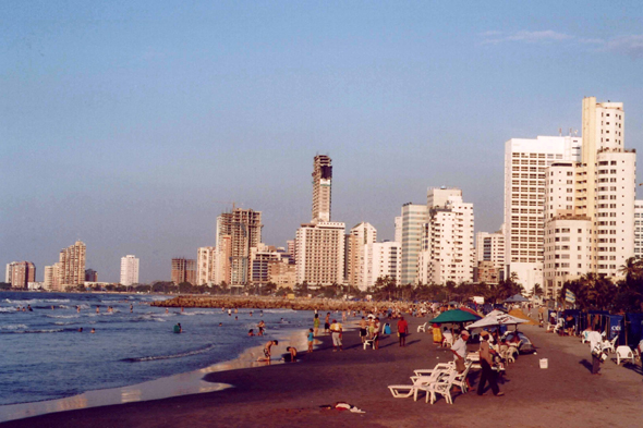 Cartagena, playa de Bocagrande
