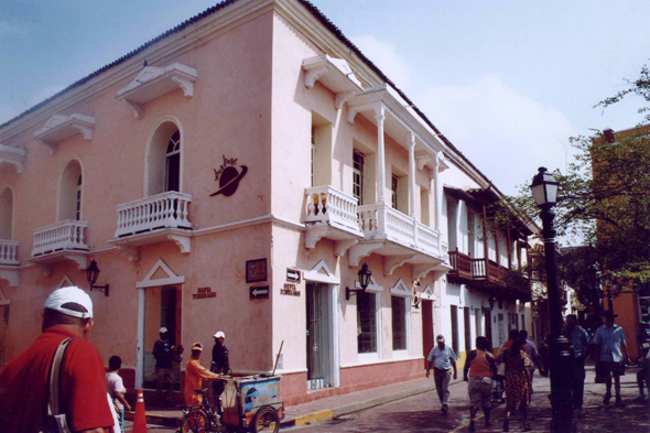 Cartagena, coloured house, Colombia