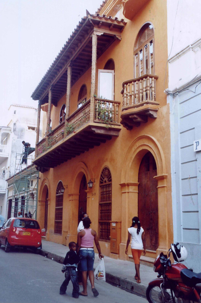 Street of Cartagena, house, Colombia