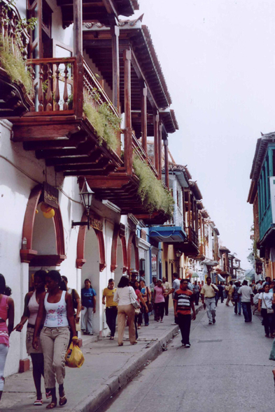 Calle coloreada, Cartagena