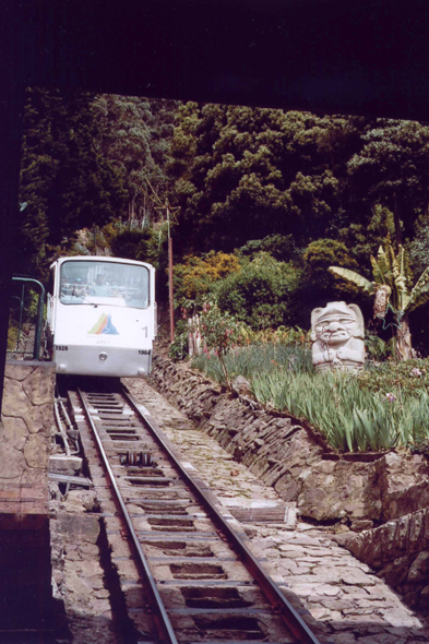 Bogota, funicular of the Monserrate