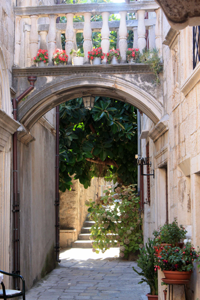 City of Korcula, alley