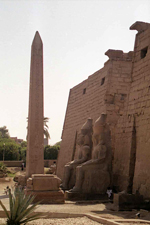 The pylon of Luxor