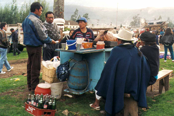 Otavalo, cattle market, meal