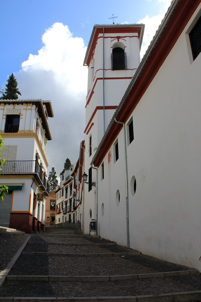 Old town of Granada, alley