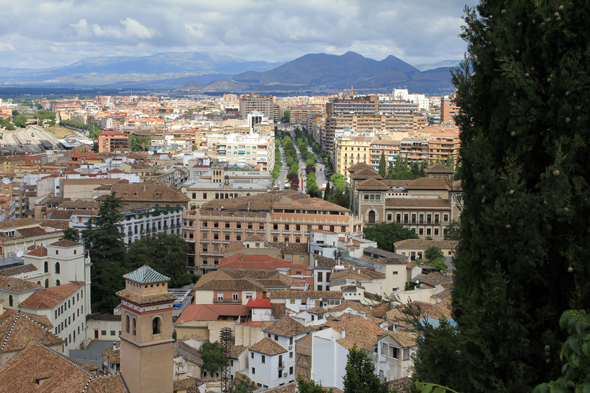 City Granada, view, districts